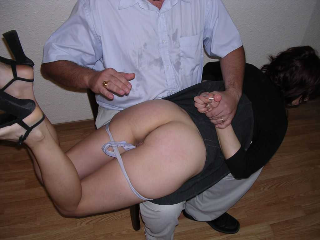 My wife tamed with pussy spanking